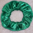 Green Metallic Foil Glitter Knit Fabric hair Scrunchie Scrunchies