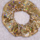 Gold Metallic Incandescent Fabric Hair Scrunchie Scrunchies