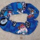 Pigs Hogs on Bikes Motorcycles Fabric hair Scrunchie Scrunchies