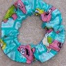 Spongebob Squarepants & Patrick Green Fabric hair Scrunchie Scrunchies