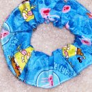 Spongebob Squarepants & Patrick Blue Fabric Hair Scrunchie Scrunchies