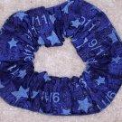 America Remembers 9/11 Blue Glitter Fabric Hair Scrunchie Scrunchies