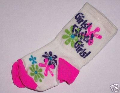 Girls Girls Girls Baby Booties Socks For Bare Feet