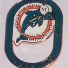 Miami Dolphins Football Oval Hat Lapel Pin NFL  NEW