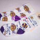 2 Los Angeles Lakers Basketball Toddlers Socks  6-8 NBA