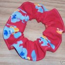 Red BLUES CLUES Fabric  Hair Scrunchie Scrunchies