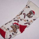 Christmas Dogs &  Candy Canes SOCKS 4-6 For Bare Feet