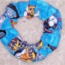 Cats on Motorcycles Bikes Fabric Hair Ties Scrunchie