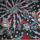 Born to Ride Motorcycles & Flags Fabric  Bandana