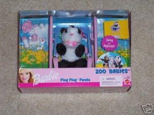 Barbie  Zoo Babies Ping Ping Panda NIB Mattel