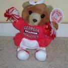 Georgia Bulldogs Cheerleader Bear NCAA  NWT