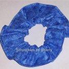 Blue Glitter Mirage Fabric Hair Scrunchie Ties NEW