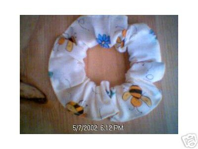 Bees and Flowers Fabric Hair Scrunchie Scrunchies