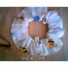 Bees and Flowers Fabric Hair Scrunchie Scrunchies by Sherry