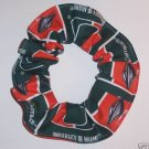 Miami Hurricanes Patchwork Fabric Hair Scrunchie NEW