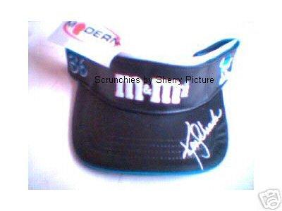 Ken Schrader Black Leather M&M's Visor NASCAR