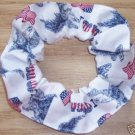 I Love USA Flags  Fabric Hair Scrunchie Scrunchies by Sherry