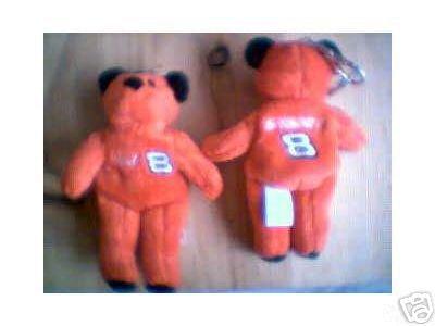 Dale Earnhardt Jr Mini Bear # 8 Key Ring Chain NASCAR