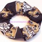 New Orleans Saints Fabric Hair Tie Scrunchie NFL NEW