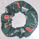 Miami Hurricanes  Green Fabric Hair Scrunchie NEW