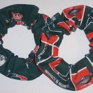 2 Miami Hurricanes  Fabric Hair Scrunchie NEW