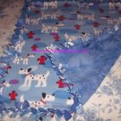 Blue Dalmatian Dog Fleece Baby Pet Doggie Blanket
