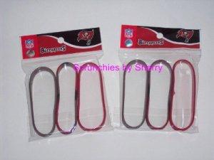 6 Tampa Bay Buccaneers Rubber WristBands Bracelets NFL