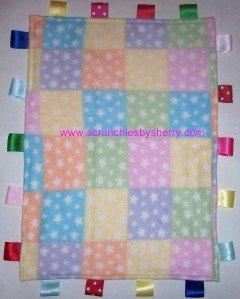 Baby  Blocks with Stars Ribbon Blanket Baby Boy Girl