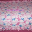 Pink Teddy Bears Fleece Baby Pet Doggie Blanket