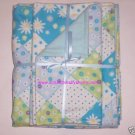 Diamond Flowers Dots Girl Boy Blanket & 2 Burp Cloths