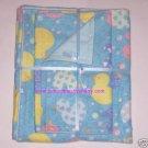 Colorful Hearts Ducks Girl Boy Blanket & 2 Burp Cloths