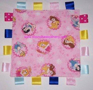 Pink Disney Princess Flannel Ribbon Blanket Baby Girl