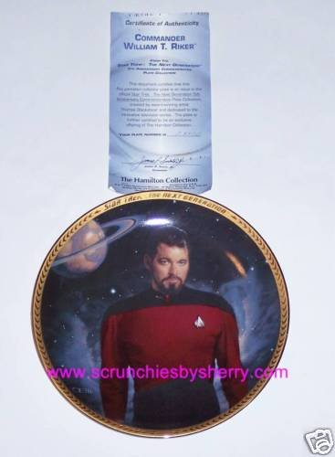 Star Trek Collector Plate Commander William T Riker