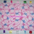 Pink Teddy Bears Ribbon Tags Blanket Baby Girl