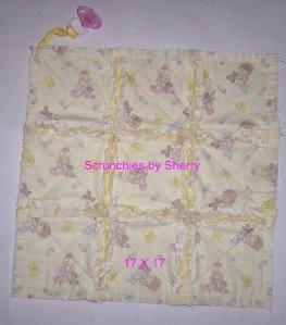 Custom Rag Quilt Pacifier Blanket Binky Holder Keeper