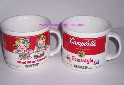2 1989 Campbells Soup Ceramic Tea Coffee Mugs Mm! Mm!