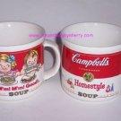 2 1989 Campbells Soup Ceramic Tea Coffee Mugs Mm! Mm!