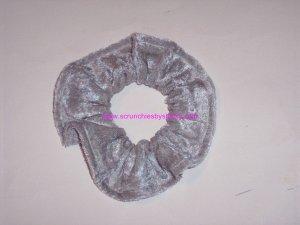 Silver Panne Velvet Fabric Hair Scrunchies Scrunchie