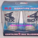 2 Chicago White Sox Cooperstown Collection Glasses MLB