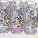 Walt Disney Donald Duck Collectors Steins Glasses Vintage Lot of 6