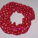 Red Stars all Over Fabric Hair Scrunchie Scrunchies