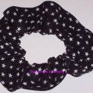 Black Stars all Over Fabric Hair Scrunchie Scrunchies