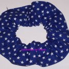 Blue Stars all Over Fabric Hair Scrunchie Scrunchies
