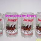 4 Budweiser Clydesdales Horses Beer Steins  Mugs 1996