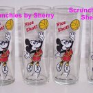 4 Disney Mickey Mouse Nice Shot Basketball Glasses Vint