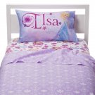 Disney Frozen Elsa Anna Twin Sheet Flat Fitted Pillowcase 3 Piece