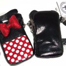 Disney Minnie Mouse Smartphone Case Black Red Sequin Crossbody D-Tech
