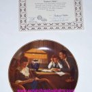 Norman Rockwell Collector Plate Father's Help Bradford Exchange Vintage Retired