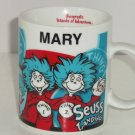 Dr Seuss Landings  Mary Coffee Mug Universals Islands of Adventure Thing 1 2 Cup