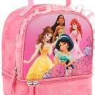 Disney Store Princess Lunch Box Tote Bag Back to School Pink Ariel Belle Jasmine